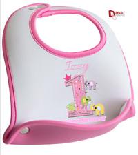 Personalizzato 1st Primo Compleanno Bavaglino Carino Elefanti Design-qualsiasi nome & Data
