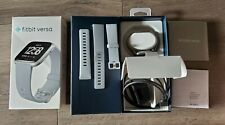 Fitbit Versa Activity Tracker Smartwatch Fitness Stone/Mist Gray + Extra Band!