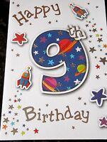 Happy 9th Birthday Card by Eclipse Cards. Male Birthday Card.