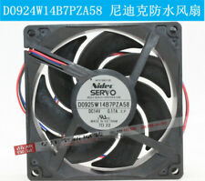 D0925W14B7PZA58 Original 9225 NIDEC 12V Waterproof Ball Mute Cooling Fan