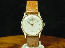 Herodia 18kt 750 oro dorado funcionan reloj Hombre