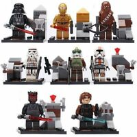 8 X MINI FIGURES STAR WARS MINIFIGS FIT WITH LEGO UK SELLER THE FORCE JEDI TOY