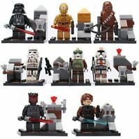 8 Pcs MINI FIGURES MINI FIGS STAR WARS FITS WITH LEGO CLONE TROOPERS VADER UK