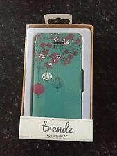 Trendz Patterned Folio Flip Case Cover With Credit Card Slots iPhone 5c