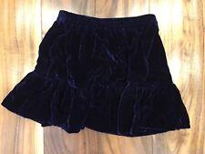 Peek (Aren't You Curious) Toddler Girl Blue Velvet Garmen Skirt 2-3, 2t-3T, NWT