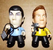 """Star Trek Titans 3"""" VINYL FIGURES Spock & Kirk Where No man has gone before"""
