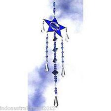 1 X  Beautiful Blue Glass Star Shaped Light Catcher (SC014)