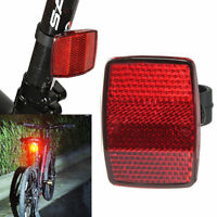 Bicycle Bike Reflector Reflective Front Rear Warning Light Safety Lens Cycling