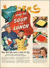1951 Vintage ad for Campbell's Soup`Christmas Retro Cans   (120216)