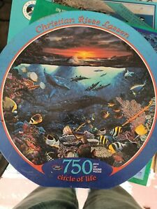 """Christian Riese Lassen Round 24"""" Jigsaw Puzzle 750 pieces Majestic Encounters"""
