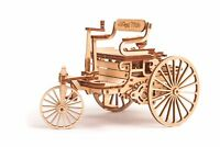 Wood Trick First Car Machine Mechanical Wooden 3D Puzzle Model Assembly DIY Kit