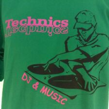 Technics DJ & Music Green Shirt Size Large