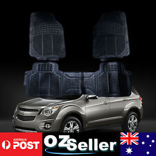 Universal 3 Pieces Waterproof Heavy Duty Rubber Car Floor Mats Front & Rear Set