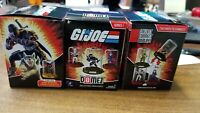 G.I. Joe DOMEZ Lot Of 3. Destro, Storm Shadow And Roadblock With Boxes