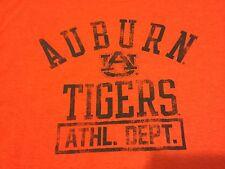 NWOT Auburn University AU Tigers Football Basketball T Shirt Orange Size Large