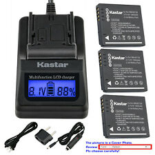 Kastar Battery LCD Fast Charger for Original Panasonic DE-A60 DE-A59 DE-A59B