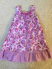 Naartjie purple butterfly tank summer sundress sun dress 6 po