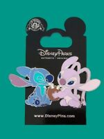 Disney Trading Pin SDR - Stitch and Angel Sharing a Coconut Drink