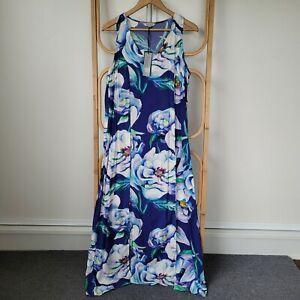 NEW Resort By Jendi Size 10 Sleeveless Maxi Dress Floral Print