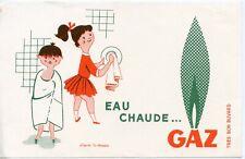 BUVARD / PUBLICITAIRE // EAU CHAUDE ....  GAZ //  D'APRES FIX MASSEAU