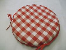Guinga rojo circular Zip Off cojines de asiento adecuado para la cocina/comedor