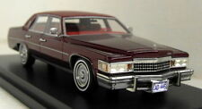 BoS 1/43 Scale Cadillac Fleetwood Brougham Metallic Red Resin Model Car