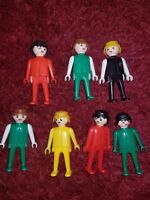 Playmobil True Vintage Lot of Action Figure Bodies Heads lot of 7 Used