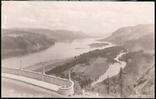 OREGON OR Gorge of Columbia River Along Highway Vtg RPPC Postcard Old Photo