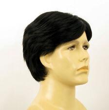 Perruque homme 100% cheveux naturel noir ref BERNARD 1b
