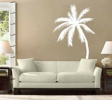 "Two Palm Tree Vinyl Wall Decal Stickers 33""h x 22""w each (1 regular & 1 reverse)"