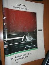 Saab 900 : manuel atelier partie 3:4 Système électrique schémas 1990