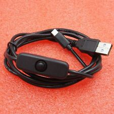 1m  Cable USB To Micro USB Charger Cord ON/OFF Button Switch for Raspberry Pi