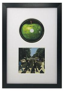 "Oxford CD & Cover Black Frame with White Mount Memorabilia Wall Art Album 14x9"""