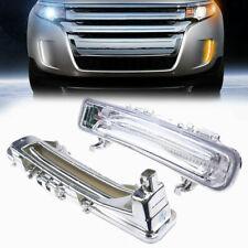 Pair Fit Ford Edge 11 12 13 14 LED Daytime Fog Lamp DRL White Light Assembly Kit