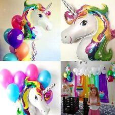 Unicorn Large Rainbow Foil Helium Balloon Children Birthday Wedding Party Decor