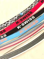 K-Swiss Tennis 6 Pack of Headbands Sports Soccer Athletics Silicone GRIP Tennis