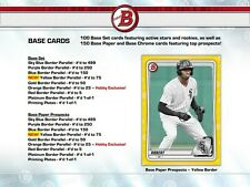 2020 Bowman Baseball - Pick Your Card - Complete Your Set