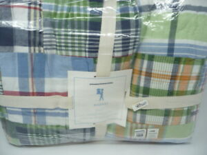 Pottery Barn Kids  Madras Plaid Quilt  Full Queen