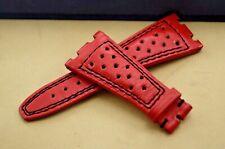 AP Bands 100% Genuine Leather Formula-1 Red Strap for Audemars Piguet Royal Oak