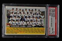 1956 Topps - #11 - Cubs Team with date, white back - PSA 8 - NM-MT