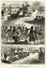 Antique Art print 1879 Afghan War Military Sports and Games at Jellalabad art