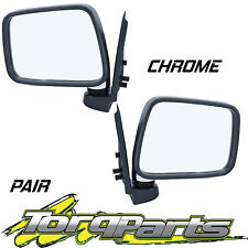 MIRRORS PAIR MANUAL CHROME SUIT TF RODEO HOLDEN SAIL MOUNT DOOR SIDE REAR VISION