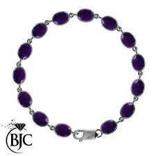 """Natural Amethyst Fine Bracelets 7.5 - 7.99"""" Length"""