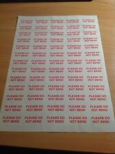 520 Please Do Not Bend Small Labels Stickers Self Adhesive Printed Mail sticker