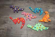 Dinosaur Cake Topper set of 6 Edible Handmade Topper Boys Childs Birthday