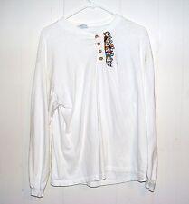 Women Walt Disney Snow White Seven Dwarfs embroidered Shirt Top Medium Large M L