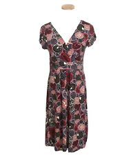 Boden Womens Dress Size 8 Floral V Neck Faux Wrap Short Sleeve