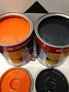Doosan Digger Orange & Counterweight Dark Grey High Enamel Paint 1 Litre Tins