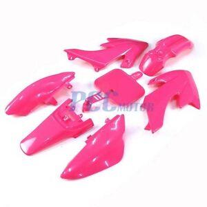 PINK PLASTIC FENDER KIT HONDA CRF XR XR50 CRF50 50 SDG SSR 107 110 125CC M PS05