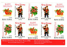 1994 Boys Town Christmas stamps Sheet of 10